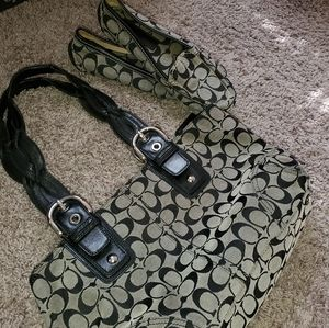 Coach bag with matching loafers